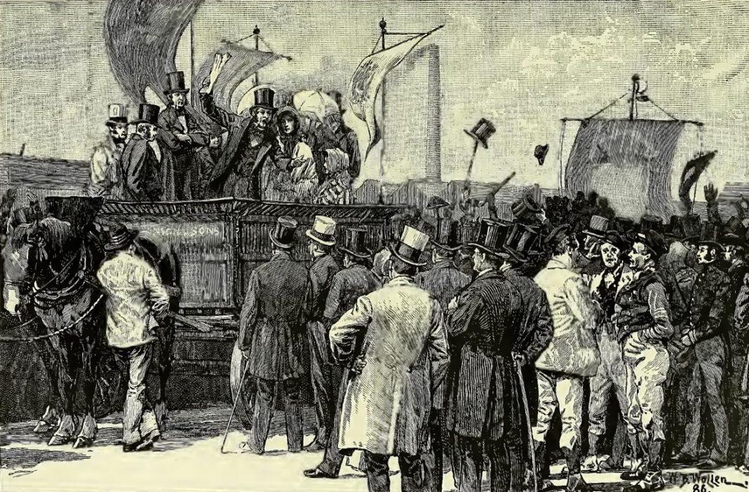 Chartist-demonstration-Victoria-illustration-Kennington-Common-The-1848