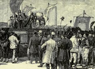 Chartist-demonstration-Victoria-illustration-Kennington-Common-The-1848