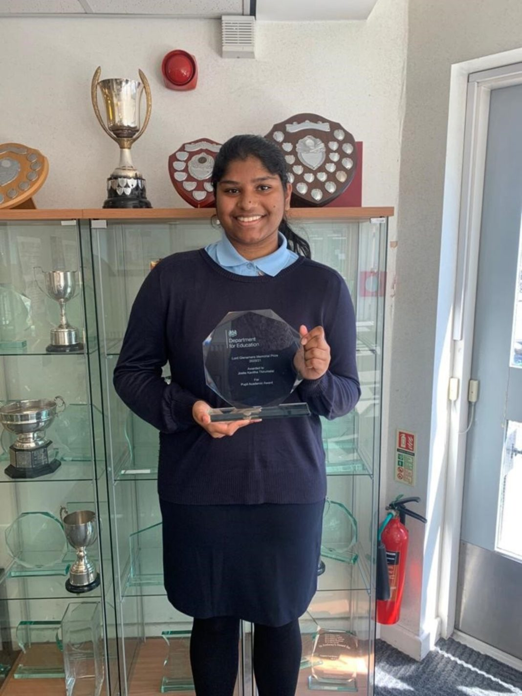 Lord Glenamara Prize Awarded To Josita For Her Exceptional Academic Performance