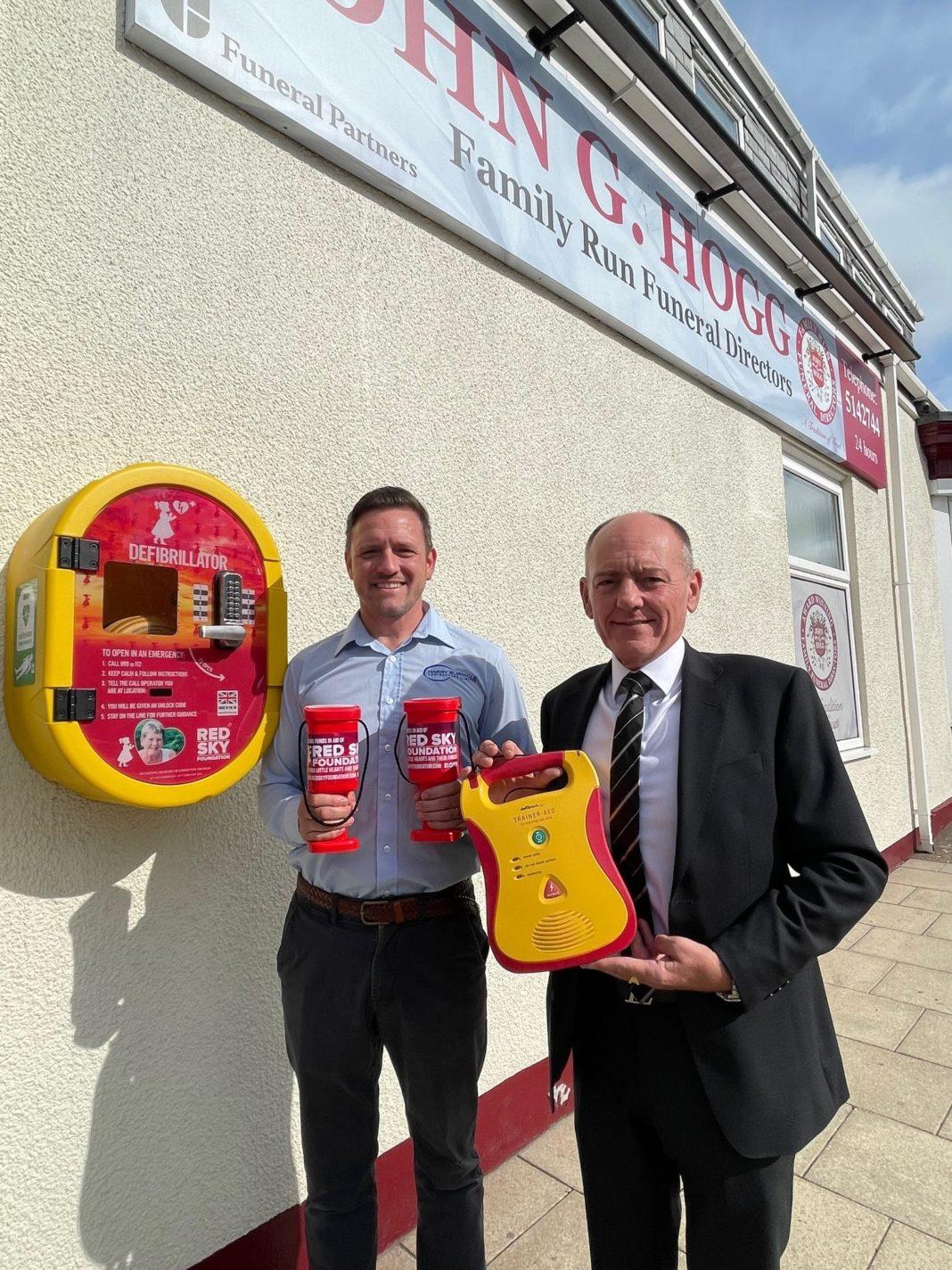 New Defribillator Installed In Sunderland In Memory Of Christine Graham