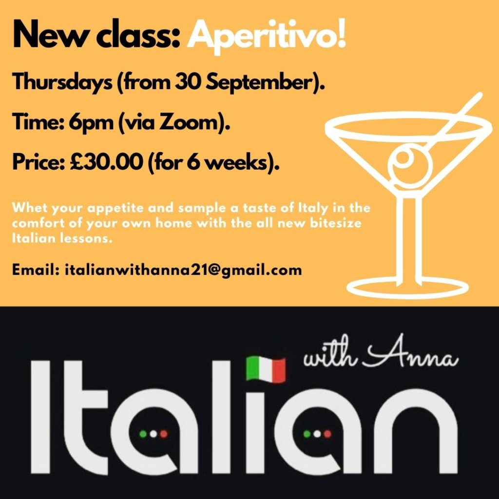Italian With Anna Launches 'Aperitivo' Sessions Bringing Italy Directly To Your Home